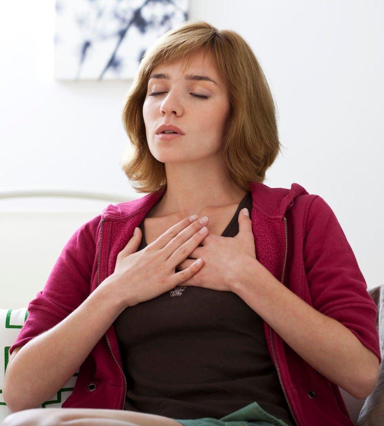 woman breathing clean air